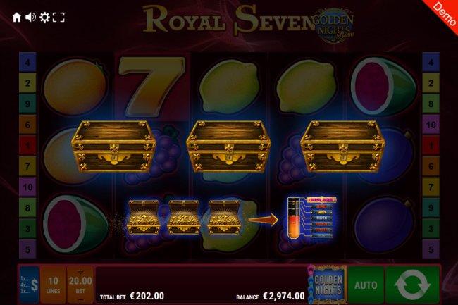 Golden Nights Bonus triggered at random during any spin by Free Slots 247