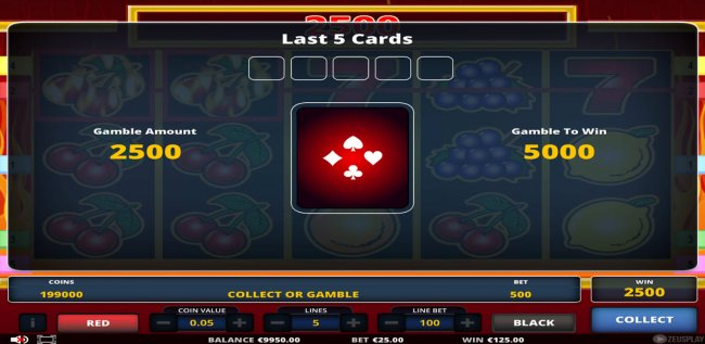 Gamble Feature Game Board by Casino Bonus Lister