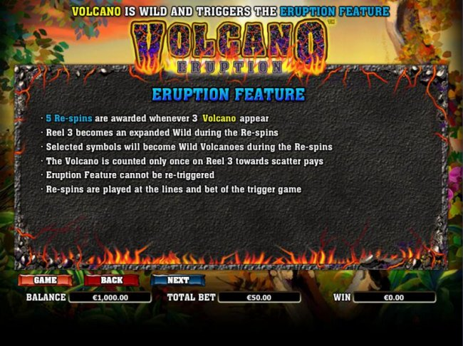 Eruption Feature Rules by Free Slots 247