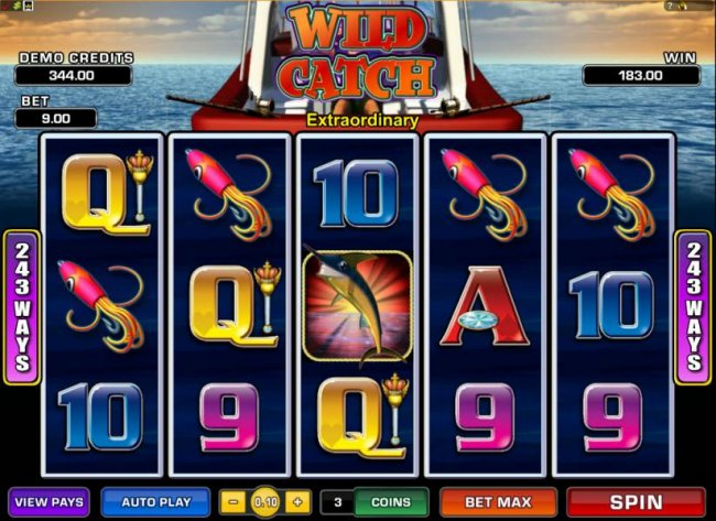 multiple winning paylines triggers 183 coin jackpot by Free Slots 247