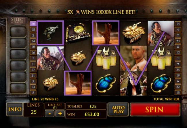 Free Slots 247 - wild symbol leads to 60 coin jackpot