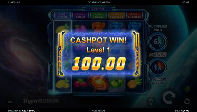 Cashpot awarded by Free Slots 247