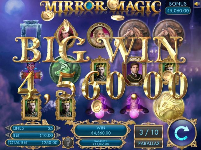 A 4,560.00 big win triggered during the free spins feature. by Free Slots 247