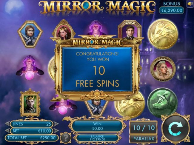 An additional 10 free spins has been re-triggered by three gypsy scatter symbols. - Free Slots 247