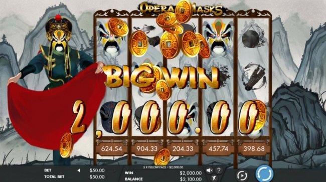 A 2000 credit big win triggered - Free Slots 247