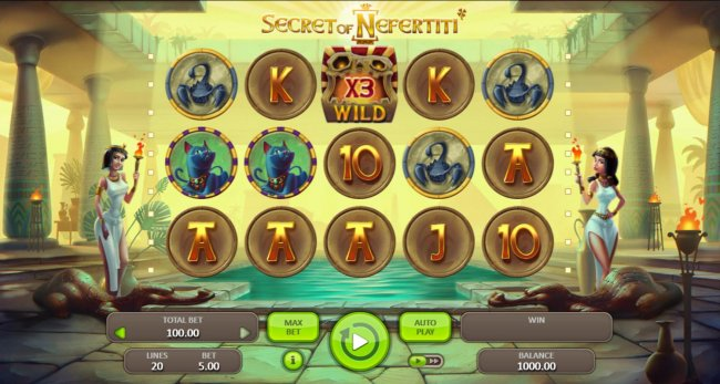 Main game board featuring five reels and 20 paylines with a $50,000 max payout. - Free Slots 247