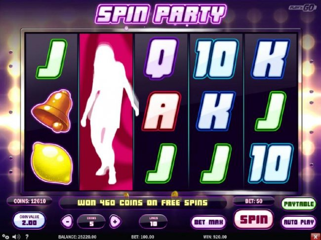 won 460 coins on free spins by Free Slots 247