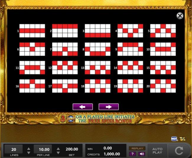 Paylines 1-20 - Free Slots 247