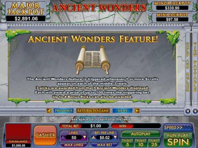 Free Slots 247 image of Ancient Wonders