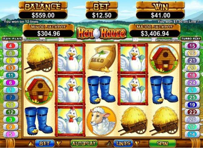 multiple winning paylines triggers $41 jackpot - Free Slots 247