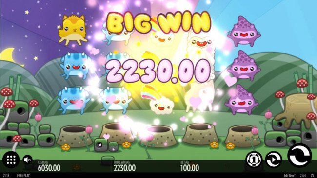 Free Slots 247 - A 2230.00 big win is triggered in combination with an expanded wild on reel 4.