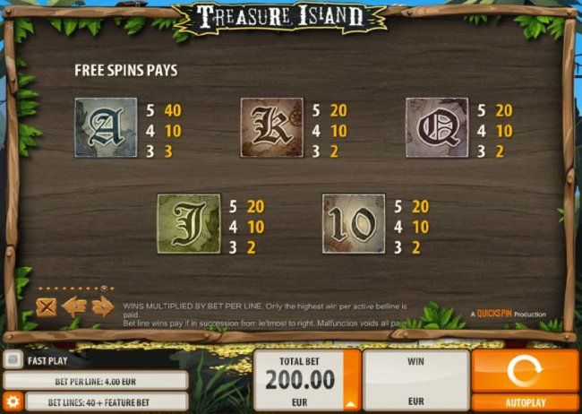 Free Spins Pays - Low Value - Free Slots 247