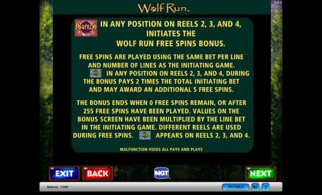 Wolf Run Free Spins Bonus - Free Slots 247