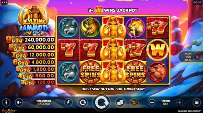 Free Slots 247 - Base Game Screen