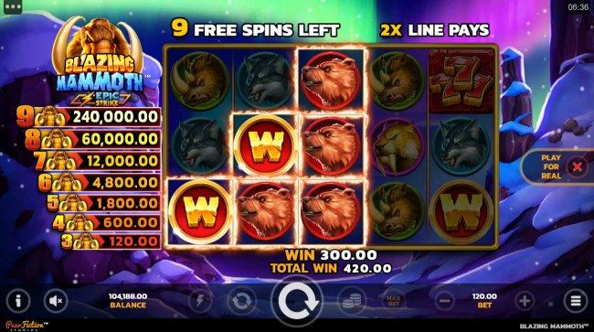 Blazing Mammoth Epic Strike by Free Slots 247