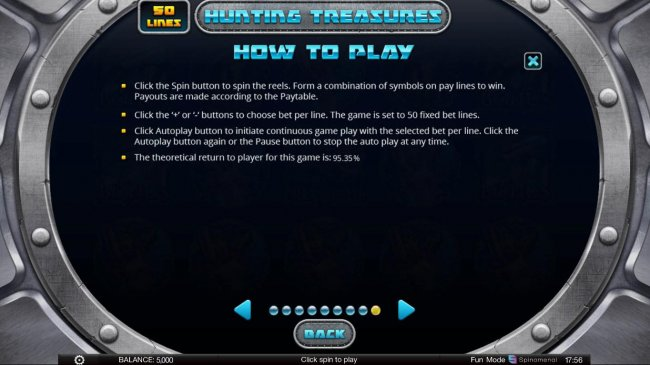 General Game Rules - The theoretical average return to player (RTP) is 95.35%. by Free Slots 247