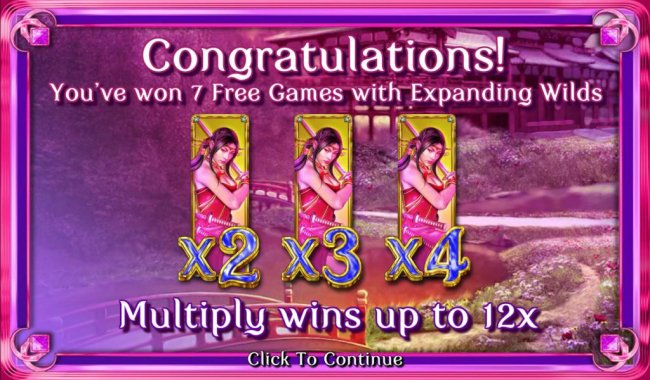 You've won 7 free games with expanding wilds - Free Slots 247