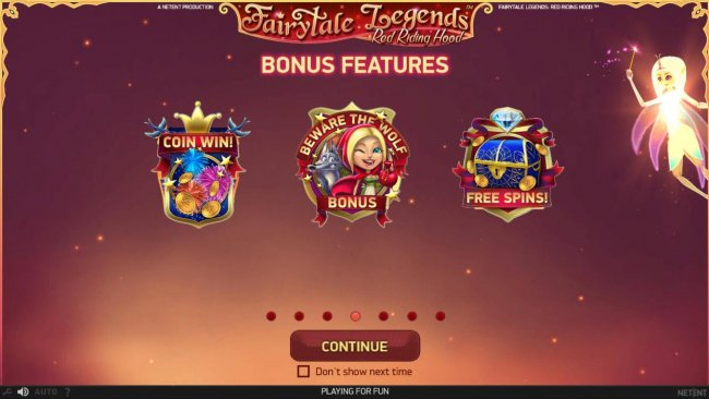 Free Slots 247 - Bonus Features Include - Coin Win, Beware the Wolf Bonus and Free Spins.
