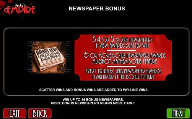 Newspaper Bonus Rules - Free Slots 247