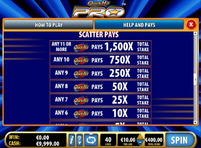 Free Slots 247 image of Quick Hit Pro