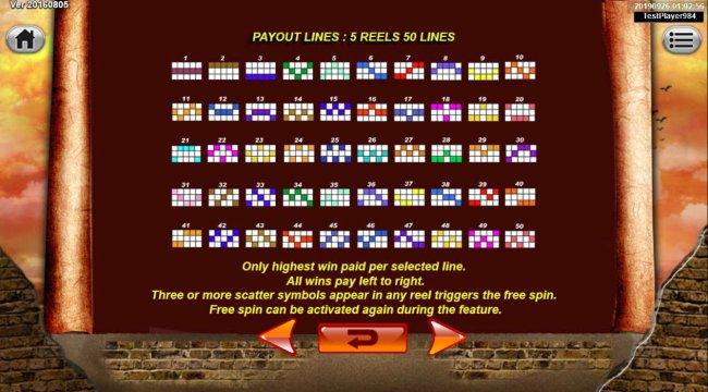 Paylines 1-50 - Free Slots 247