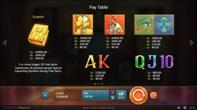 Free Slots 247 image of Book of Gold Double Chance