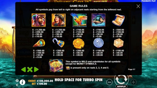 Free Slots 247 image of Pirate Gold Deluxe