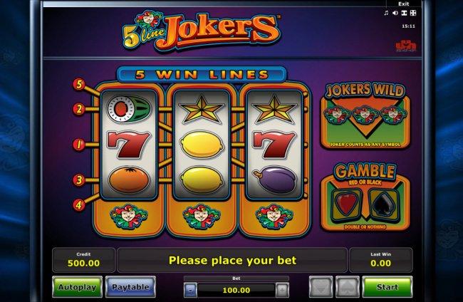 Free Slots 247 image of 5 Line Jokers