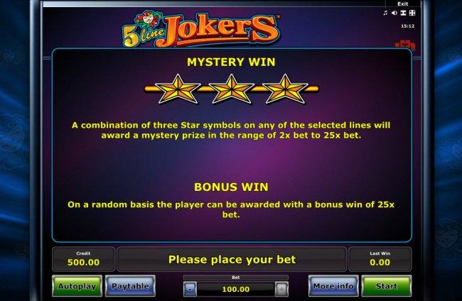 5 Line Jokers screenshot