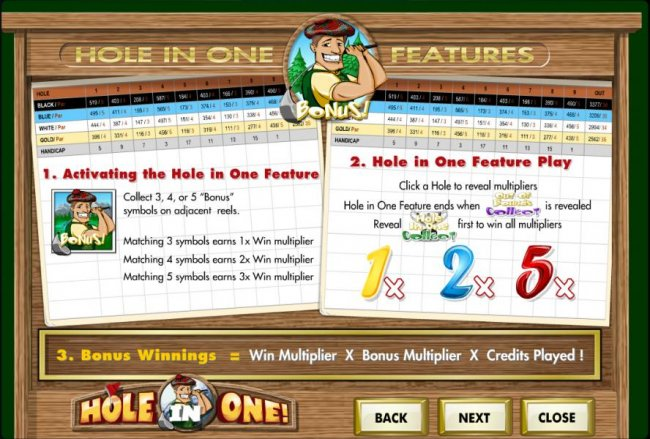 hole in one feature rules by Free Slots 247