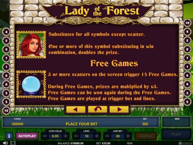 Lady of the Forest screenshot