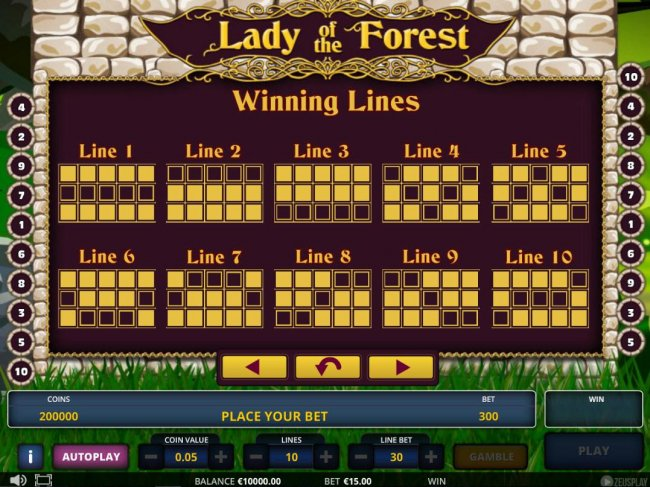 Free Slots 247 image of Lady of the Forest