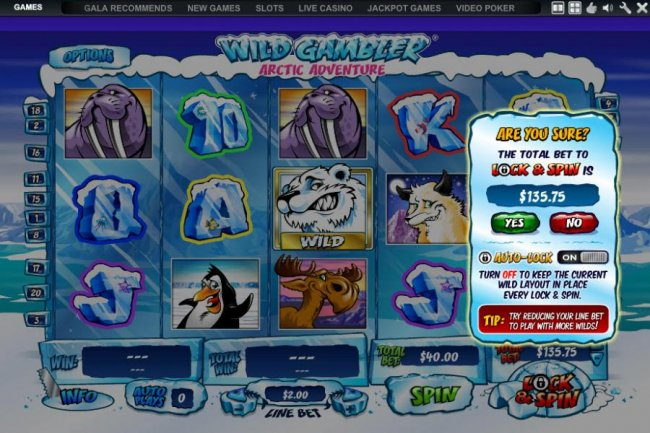 using the auto lock feature - Free Slots 247