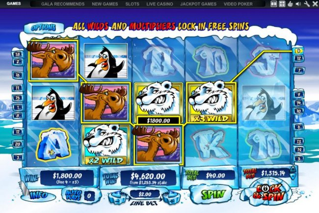 Free Slots 247 - with lock and spin feature enabled a large jackpot is triggered - $4,620