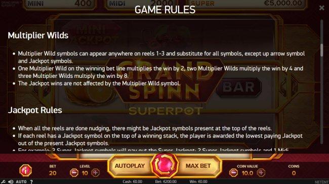 Free Slots 247 image of Grand Spinn Super Pot