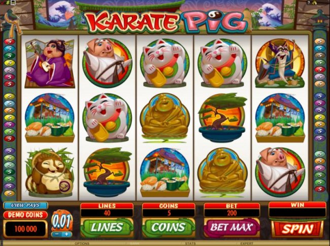 main game board featuring 5 reels and 40 paylines - Free Slots 247