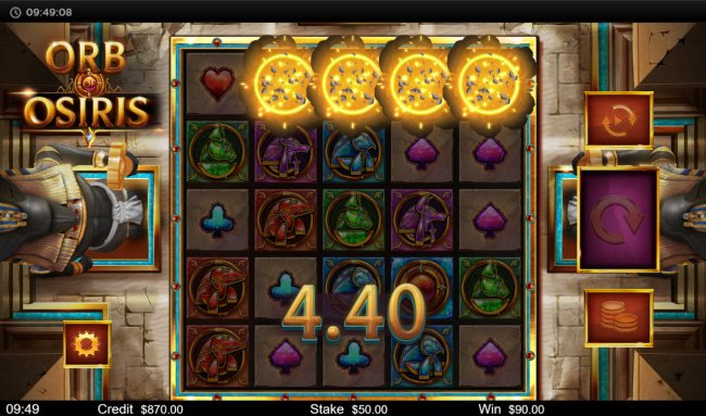 Winning symbols are removed from the reels and new symbols drop in place - Free Slots 247