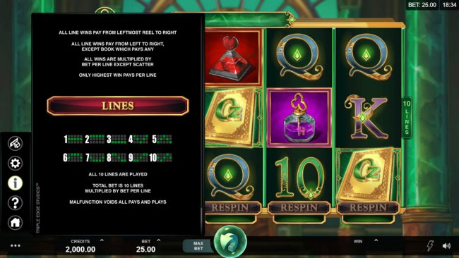 Book of Oz Respin Feature by Free Slots 247