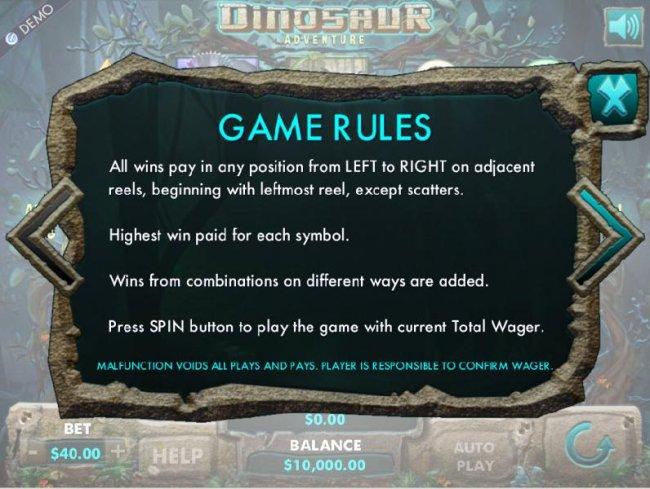 Free Slots 247 image of Dinosaur Adventure
