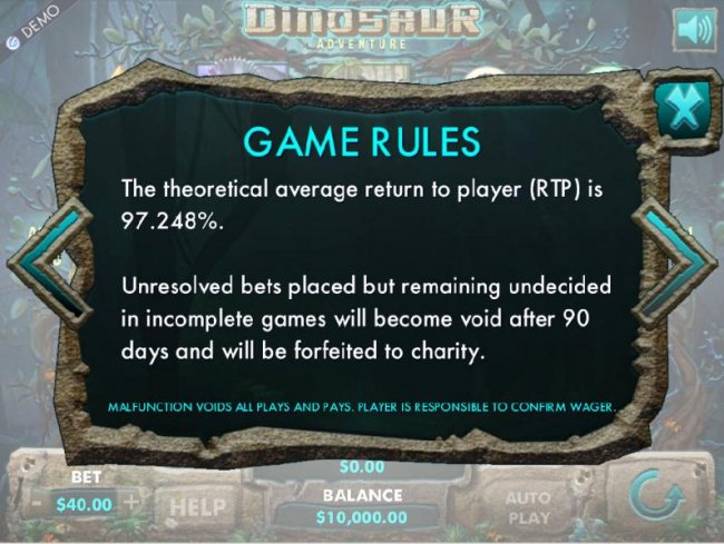 The theoretical average return to player (RTP) is 97.248% by Free Slots 247