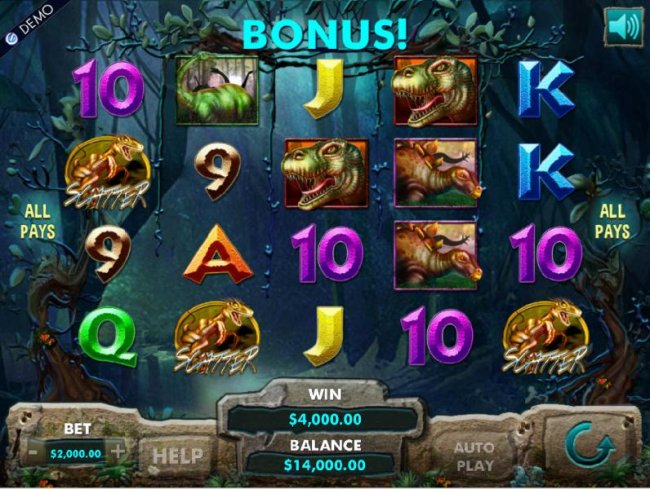 Three scatter symbols trigger the bonus free spins feature and a $4,000 jackpot by Free Slots 247