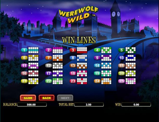 Free Slots 247 - payline diagrams