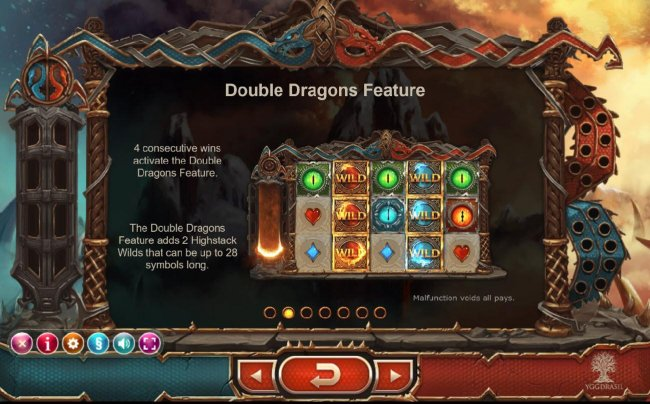 Free Slots 247 - Doubel Dragons feature - 4 consecutive wins activate the Doubel Dragons Feature.
