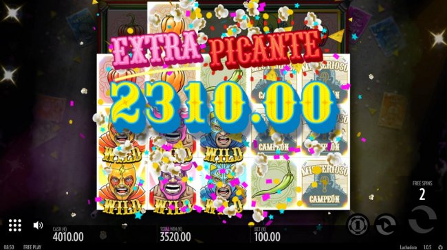 A 2310.00 super win triggered by multiple winning combinations. - Free Slots 247