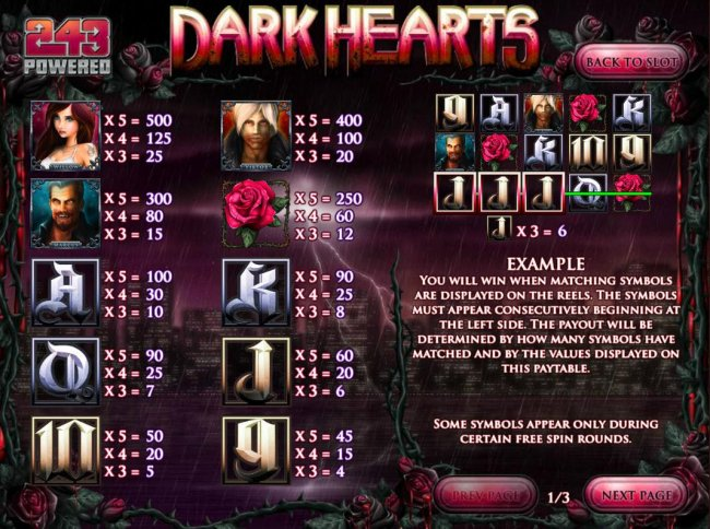 Free Slots 247 image of Dark Hearts