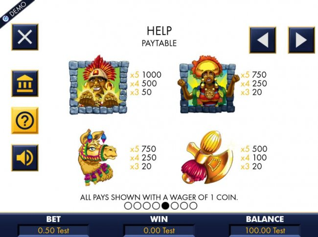Gold Idol Wilds substitute for all symbols, except scatters. When one or more wilds substitute in a win, highest win is paid. by Free Slots 247