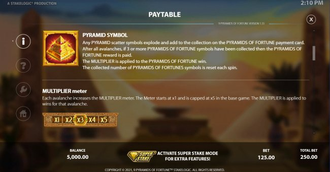 9 Pyramids of Fortune by Free Slots 247