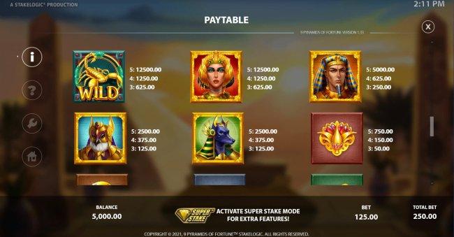 9 Pyramids of Fortune screenshot