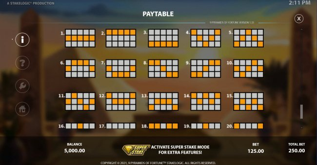 Free Slots 247 image of 9 Pyramids of Fortune