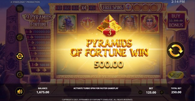 Images of 9 Pyramids of Fortune